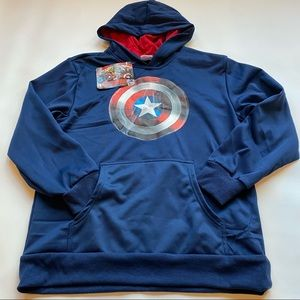 NWT Marvel Avengers Kids XL Captain America Hoodie